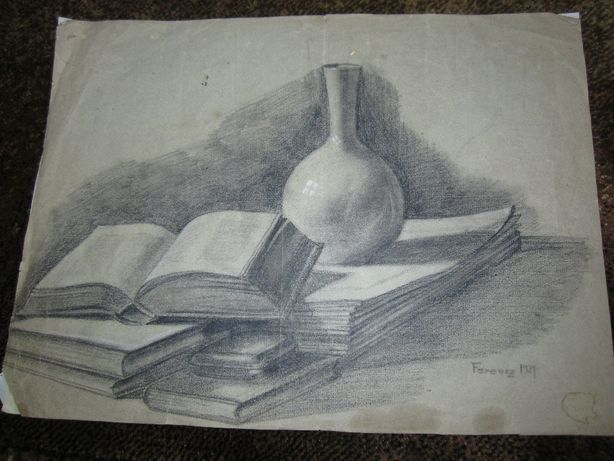 desen vechi in creion 1929 Ferencz