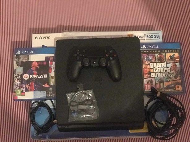 Consola Sony PS4 Slim (PlayStation 4), 500GB, Negru
