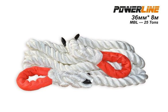 Кинетично (динамично) въже за дърпане 32мм / 8 М / 22 тона PoweLine