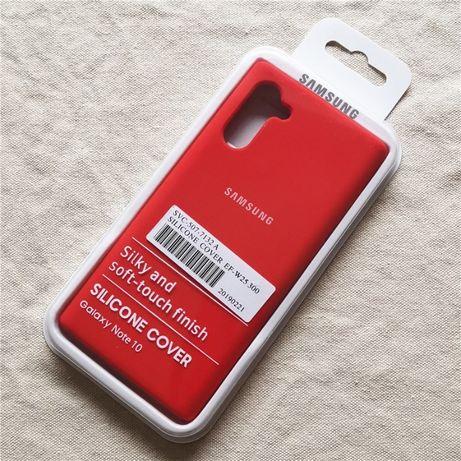Samsung Note 10 10 Plus - Husa Silicon Catifea Inteior Neagra / Rosie