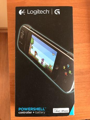 Оригинален Гейминг контроллер Logitech за iPhone 5S, iPhone 5, Черен