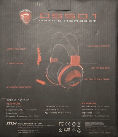 Casti Headset MSI DS501 noi la cutie
