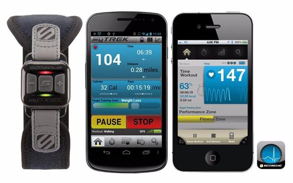 Scosche mytrek - wireless pulse monitor за IOS и Android