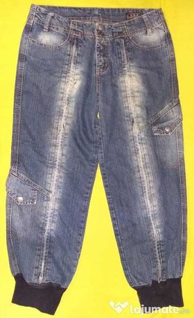 Blugi 3/4 Denim Jeans pescar salvari bufant Esprit slimfit buzunare
