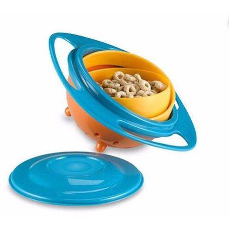 Bol rotativ 360° Gyro Bowl, cu protectie anti-varsare pentru copii si
