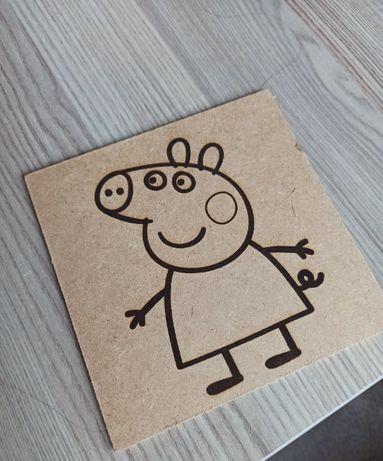 Детски дървени карти за оцветяване с анимационен герой