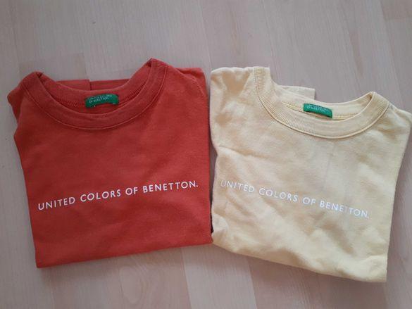 Детски блузи Benetton, 2 бр. оригинал, унисекс, 92 размер