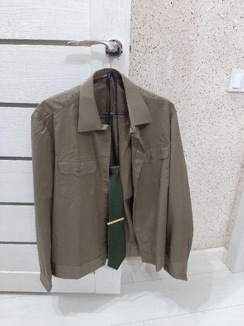 Военная рубашка для НВП с галстуком и зажимом