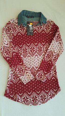 Дамска блуза с яка