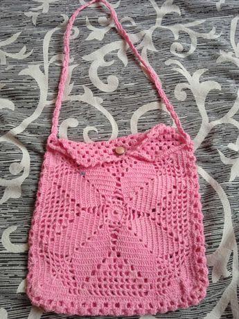 Ръчно изплетена дамска чанта