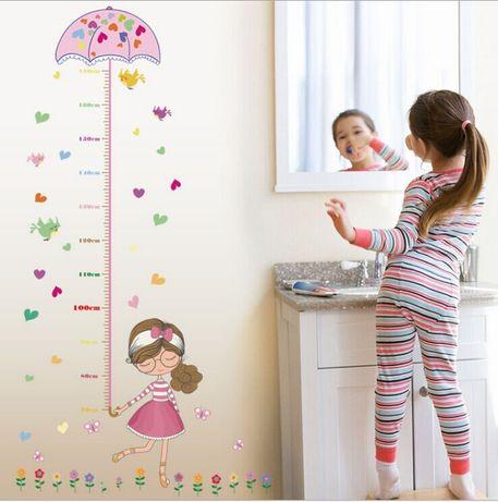 Метър за стена за момиче или момче / стикер / декор Мики Маус