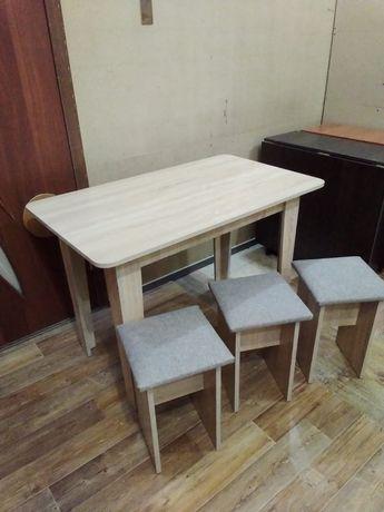 Новый Стол+4 табуретки 12800тг