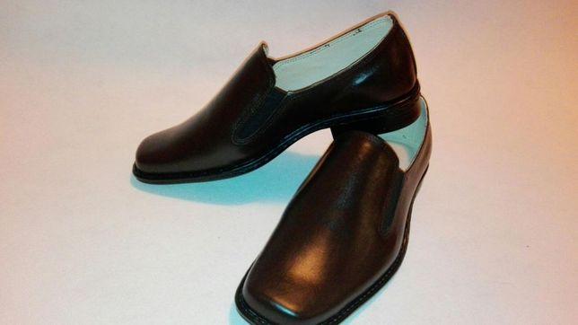 Pantofi din piele cu elastic