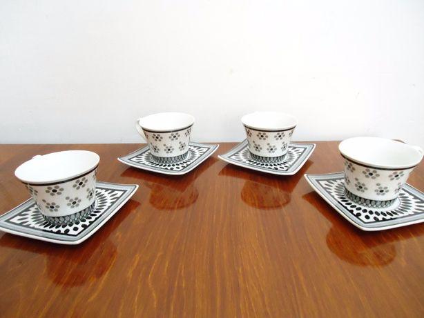 Чайный набор на 4 персоны из костяного фарфора 350 мл см.фото