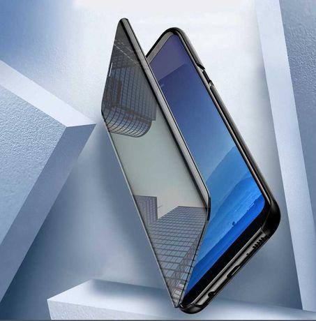 CLEAR VIEW Огледален калъф кейс Samsung Galaxy A72 черен