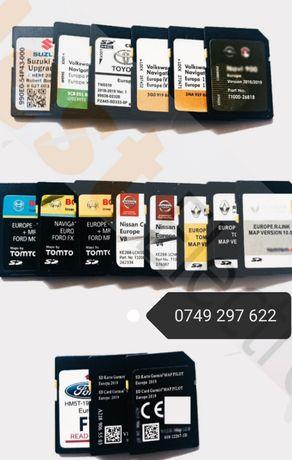 CID Card harti GPS navigatie VW, Ford, Mazda, Toyota, Renault, Nissan
