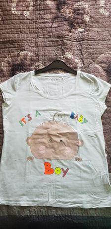 "Tricou gravide ""it's a baby boy"" pictat xxl pt băiețel"