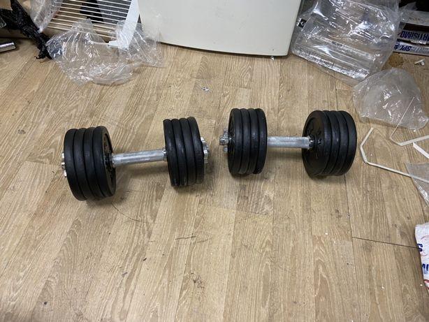 Gantere profesionale reglabile noi 45 kg,22,5+22,5=45 kg noi, 800 ron