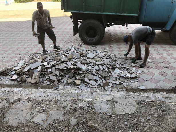 Вывоз мусора с грузчиками машына зил