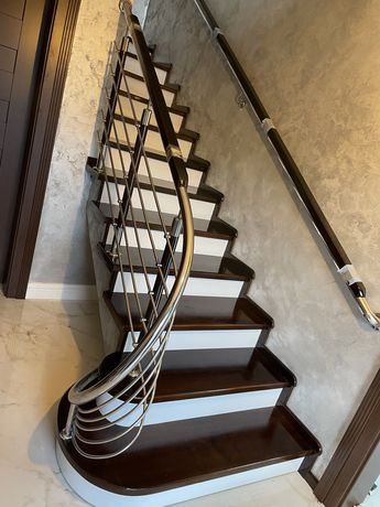 Balustrade inox inox lemn scări