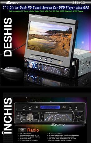 """Navigatie Erisin ES812G 1Din 7"""" DVD TV GPS USB SD AUX Radio Bluetooth"""