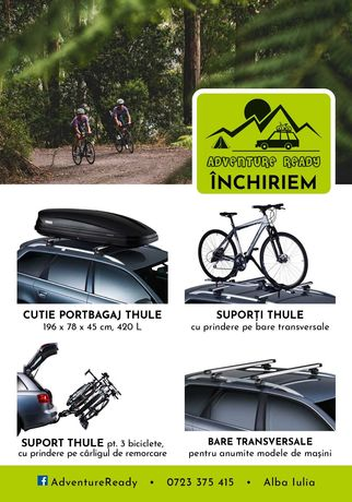 De inchiriat cutii portbagaj, suporti transport biciclete