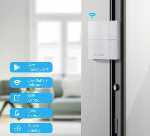 Senzor magnetic efractie usa geam WIFI Digoo TUYA Alexa Google Home