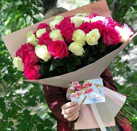 Цветы,розы,Семей Доставка цветов