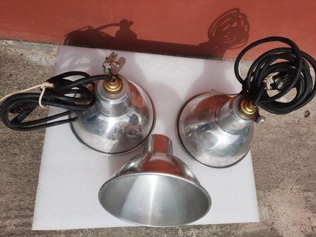 Lustra abajur pendul candela aplica industial vechi originale aluminiu