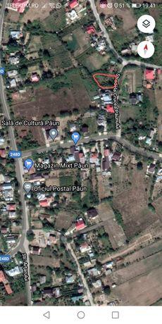 Teren intravilan sat Păun 800mp+proiect casa bonus