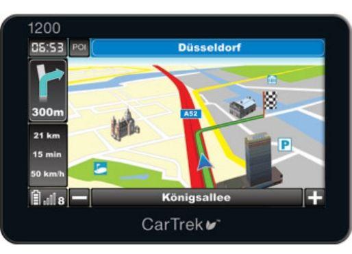 Vand navigatie GPS CarTrek 1200 cu harti Europa de Vest