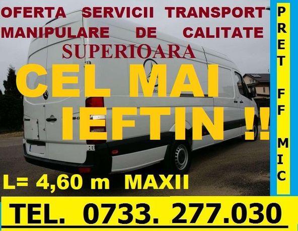Transport MARFA Mutari MOBILA,F. Ieftin STUPI,24/24h,L=4,60m.OFERTA !!