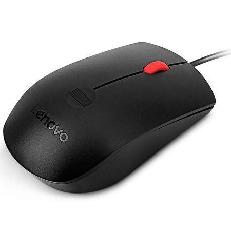 Mouse Lenovo Fingerprint Biometric, USB, optic, 1600 dpi, Negru, 4Y50Q
