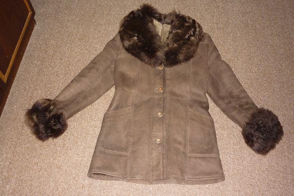 Турски дамско палто(кожух) - агнешка кожа