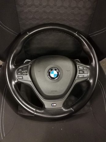 Vand volan piele cu padele BMW x3, x4 f25, f26 pachet M - impecabil
