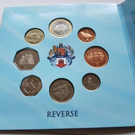 Gibraltar coins sets 2010 2012 unc Rare