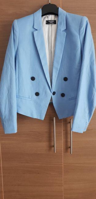 Sacou nou Mango, albastru deschis, model deosebit, mărimea 38, M