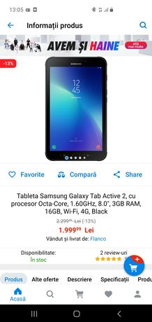 Samsung Galaxy Tab Activ 2 4G black