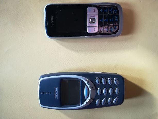 Nokia 3310 (utilizare/colecție) și Nokia 2630 (piese)