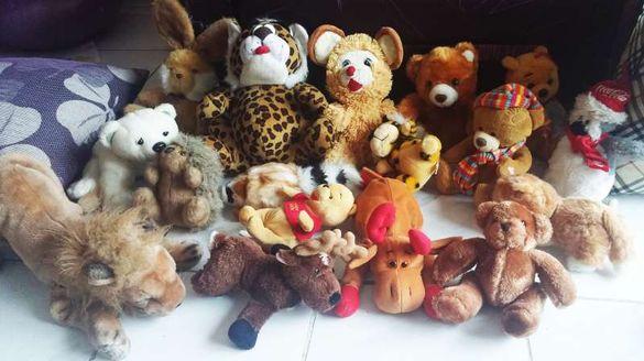 мноого плюшени играчки