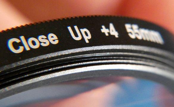 """Филтри за фотоапарат Canon Nikon Panasonic 55мм +1+2+4 и 3"""" протект"""