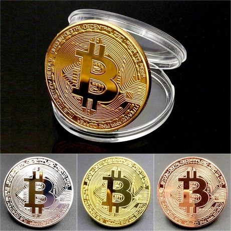 Висок клас BITCOIN Биткойн Litecoin Ethereum Dash монета монети