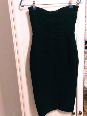 Вечернее бандажное платье