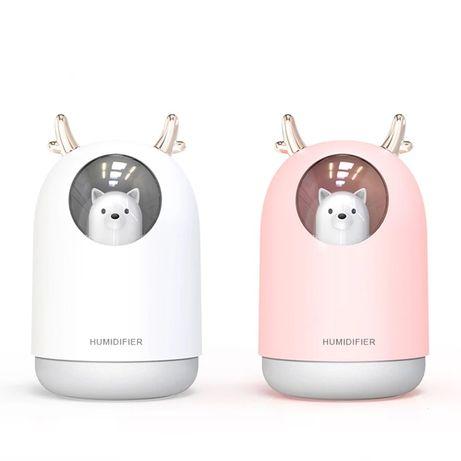 Umidificator aromaterapia cu led in forma de ursulet pentru copii