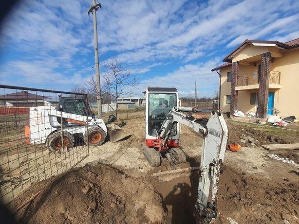 Inchiriem excavator incarcator bobcat buldoexcavator