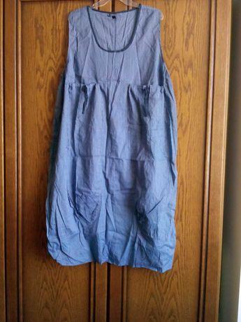 Ефирна лятна/плажна рокля за едра дама