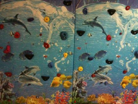 Стена за катерене с морски мотиви