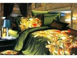 Lenjerie de pat 3D din bumbac satinatmodel floral