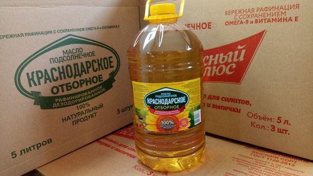 Подсолнечное масло 5 литров