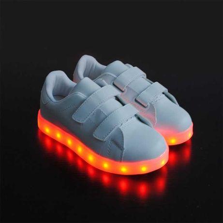 Adidasi cu LED / Leduri albi pentru copii, Unisex